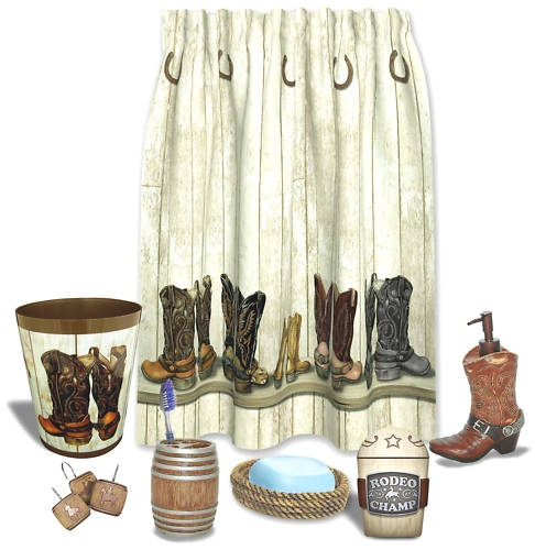 saddle up bathroom collection western cowboy theme ebay