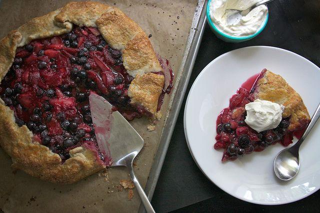 Triple Berry Galette by Shutterbean. Looks delicious!