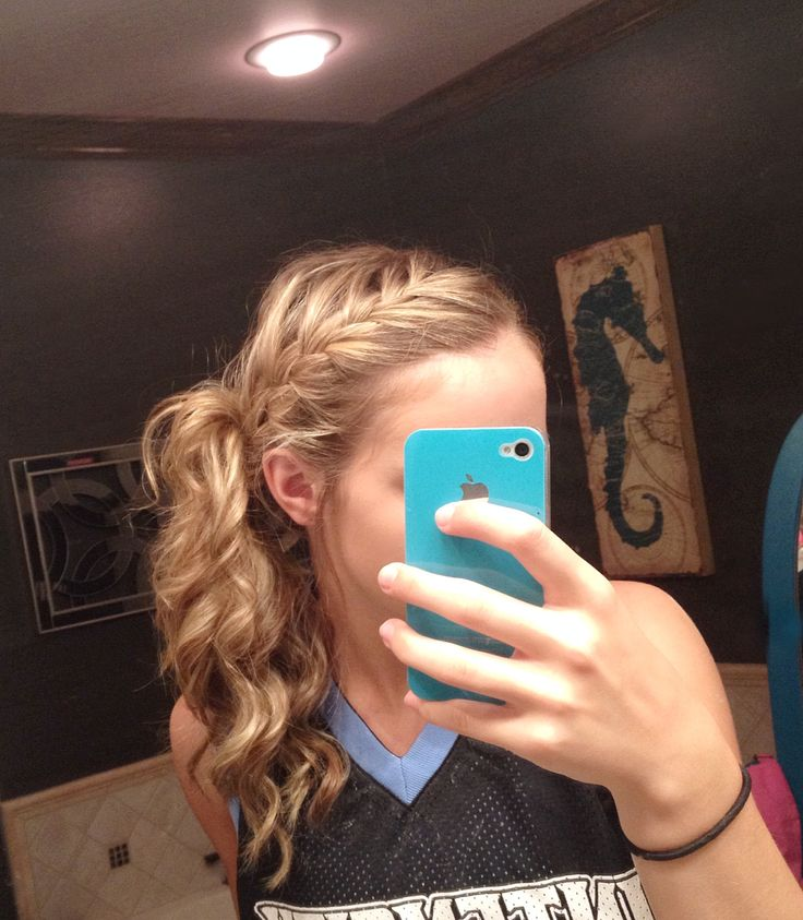 Cute Gym Hairstyles For Long Hair : Basketball hair softball cheer