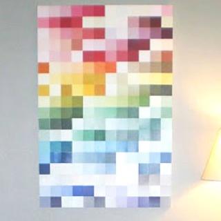 Pixelated Paint Sample Wall Art Sunday School Pinterest