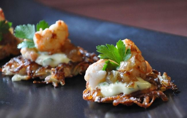 ... -Shallot Remoulade on Mini Potato Cakes; Scotland Distilled - Blog