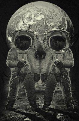 skull illusion on the moon