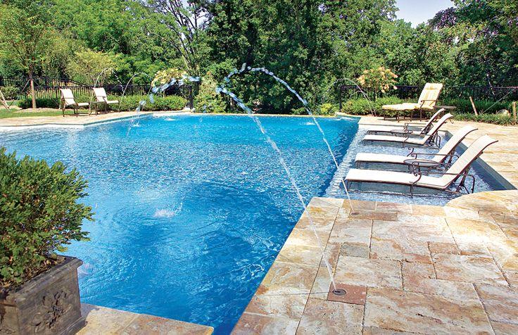 Tanning ledge backyard pinterest for Pool design with tanning ledge
