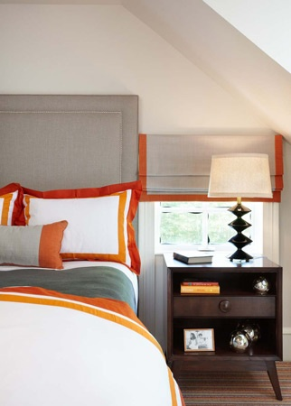 orange trimmed and gray bedroom house ideas pinterest