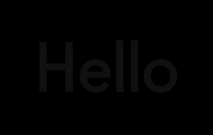 —Hello: Fugue Typeface