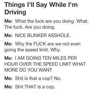 hahaha my road rage is worse than this