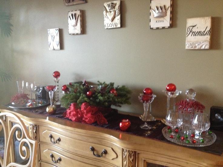 2012 buffet table decorations christmas decoration ideas