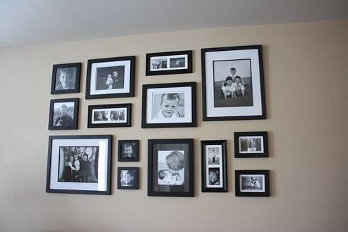 Wall gallery layout picture frames wall layout pinterest for Gallery wall layout