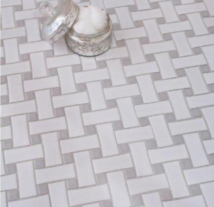 Basket Weave Tile Bathroom Redo Pinterest