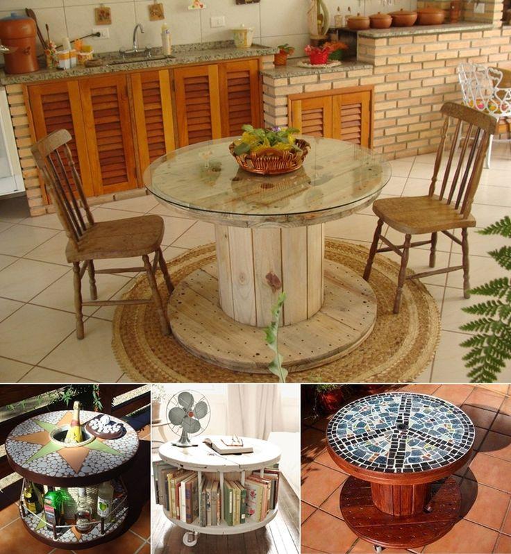 Repurposed Spool Furniture Love