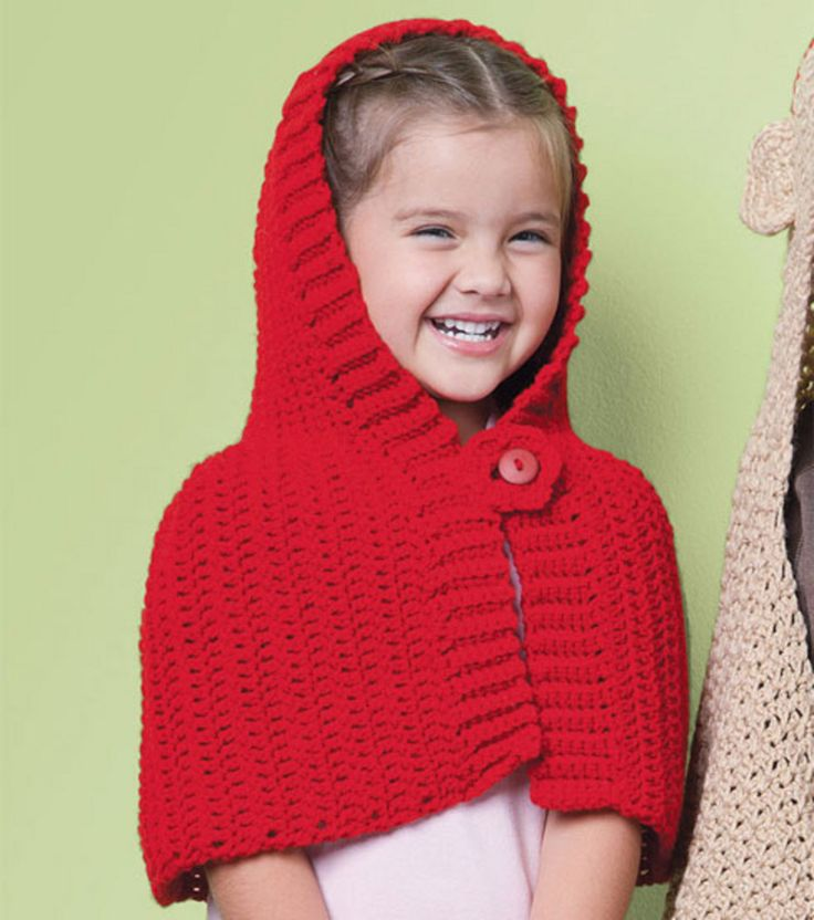 Free Crochet Patterns Red Riding Hood : Adorable Red Riding Hood #crochet cape :) Joanns Crafts ...