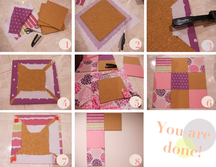 Diy bulletin board craft ideas pinterest for Diy cork board