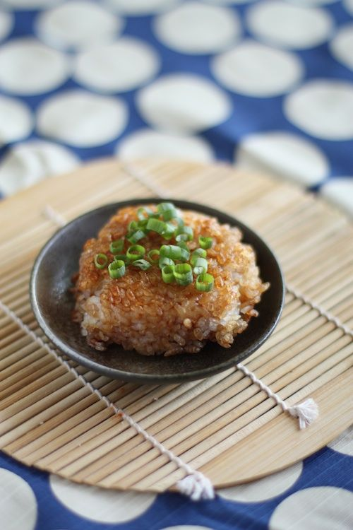 Yaki onigiri does not have to be grilled. I found this out because I ...
