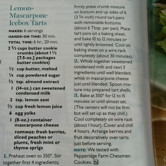 Lemon Marscapone Icebox Tarts | Food and recipes | Pinterest