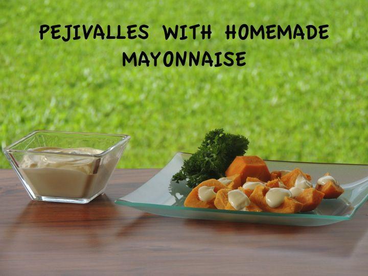 Delicious homemade MAYO: Olive Oil, Egg, Garlic, Himalayan Salt!!!