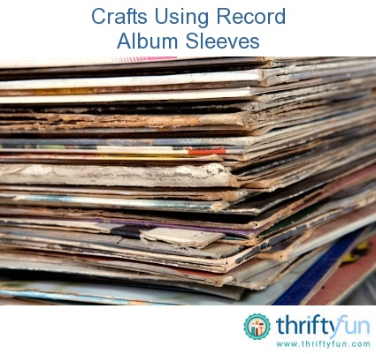 This guide is contains crafts using record album sleeves for Crafts with old records