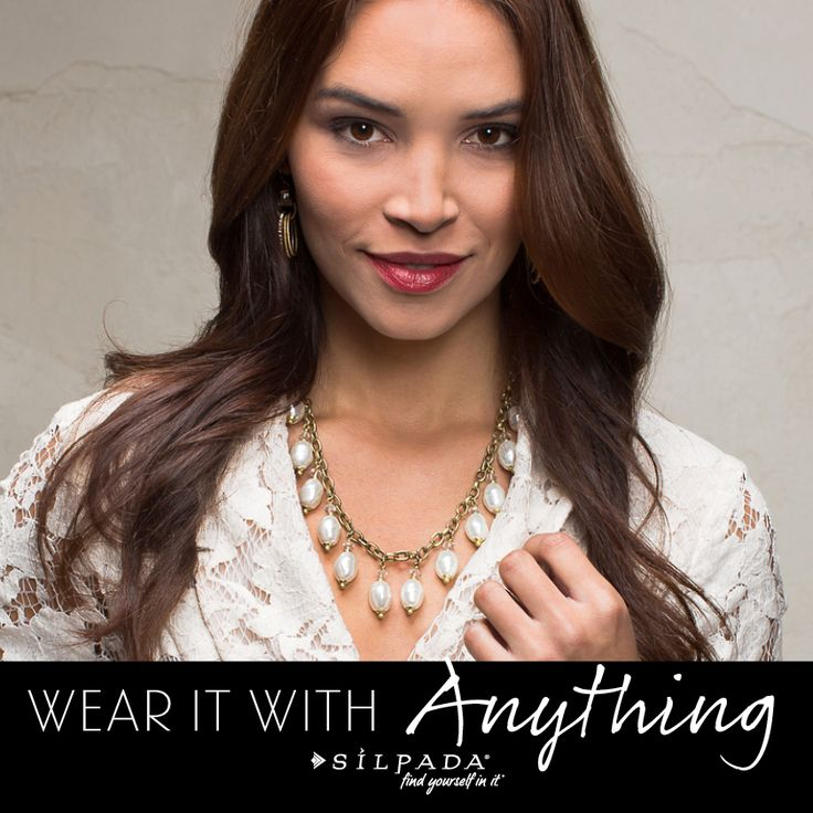 #Pearls aren't just for dress-up anymore. From your LBD to your chambray shirt - they are so versatile!