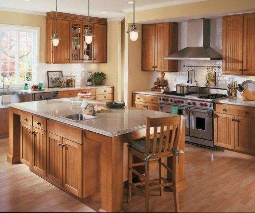 Natural Wooden Kitchen Cabinets Colors Simple Kitchen Coloring With