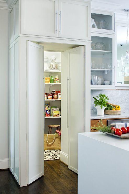 hidden walk in pantry kitchens pinterest
