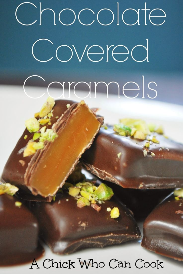 Chocolate Covered Caramels   recipes worth trying   Pinterest