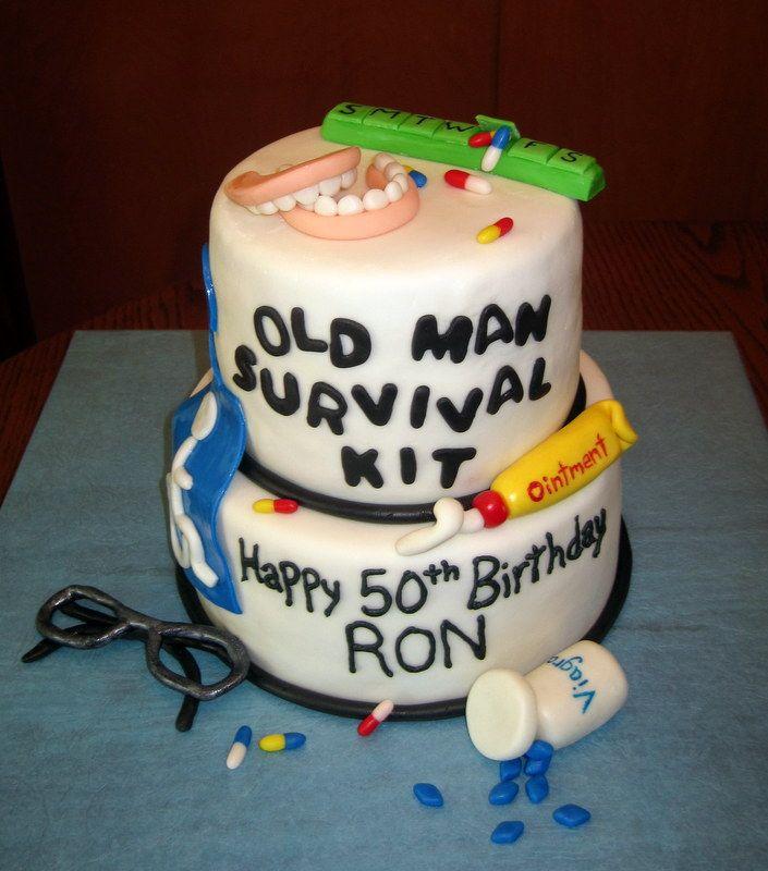 Old Man Cake Ideas 16962 Old Man Survival Kit Cake 2 Famil