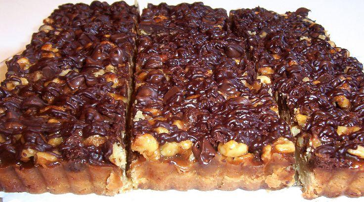 Bars - Roasted walnuts, semisweet chocolate and our home made caramel ...