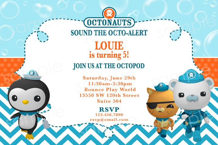 Octonauts Birthday Invitations absolutely amazing ideas for your invitation example