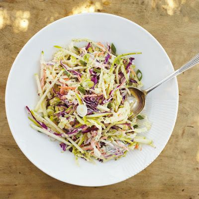 Veggies: Coleslaw with Apple and Yogurt Dressing