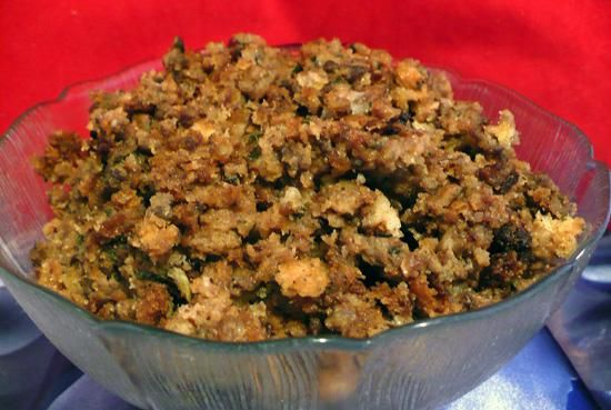 Crock Pot Bread & Sausage Stuffing. Photo by twissis