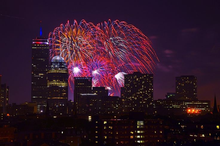 july 4th fireworks boston