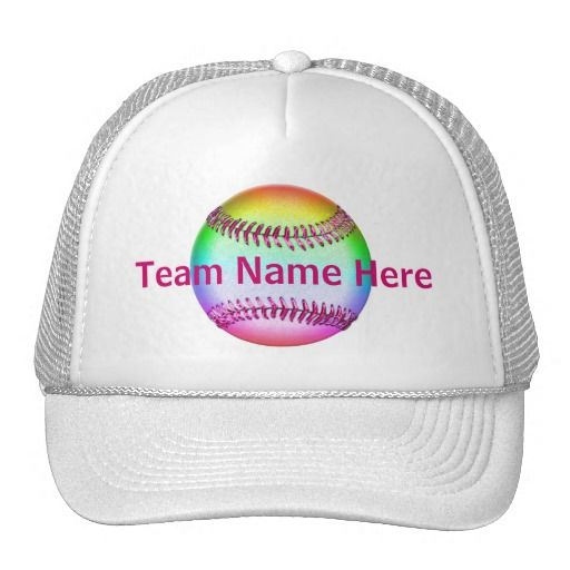 Personalized softball hats with your team name on top of a cool