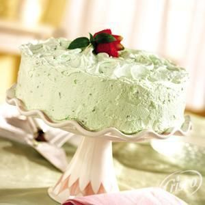 Pistachio Pudding Cake With Pistachio Frosting from Crisco®