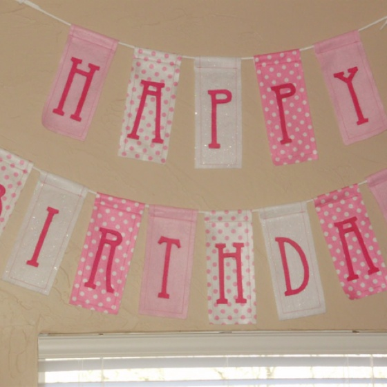 diy birthday banner 1st bday pinterest