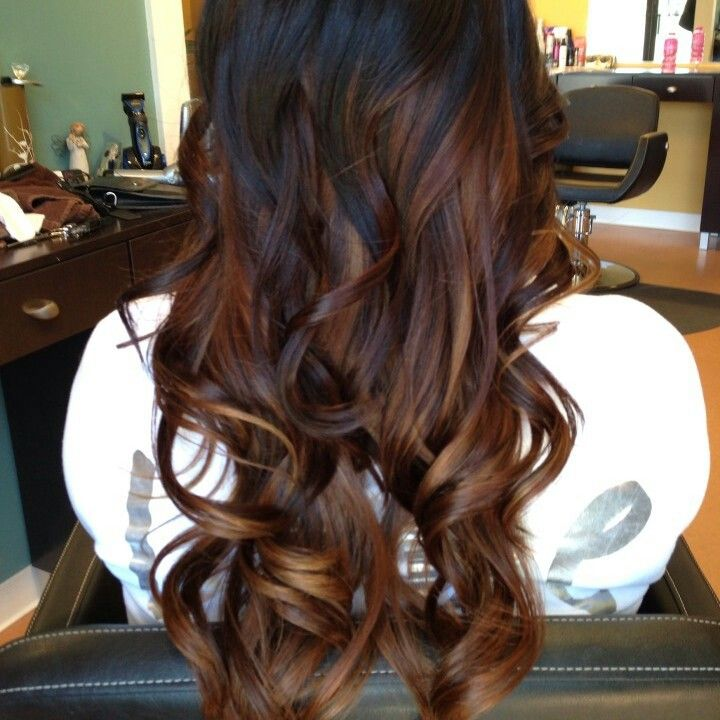 Ombre hair tumblr black to dark brown
