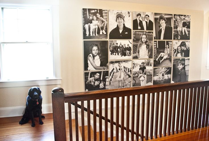 Large Black and White Photo Wall Layout
