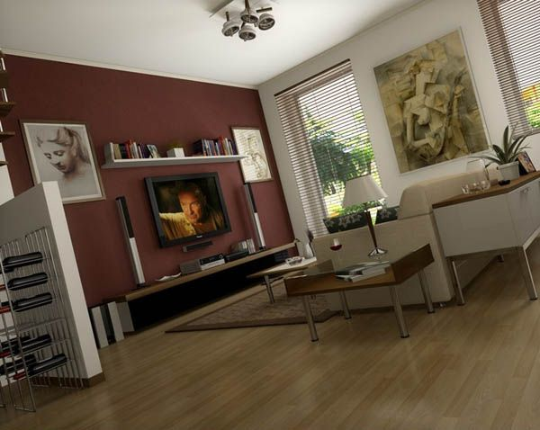 Decorating around a flat screen tv home inspirations for Flat furnishing ideas