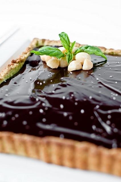 ... could be the best breakfast ever basil dark chocolate macadamia tart