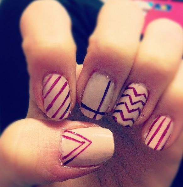 Pink Essie nail designLight Pink Nail Designs Pinterest
