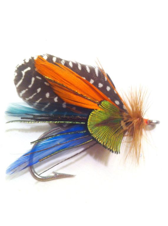 feather rustic boutonniere fly fishing pin hook nautical