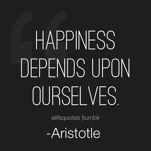 Happiness #quotes -Aristotle