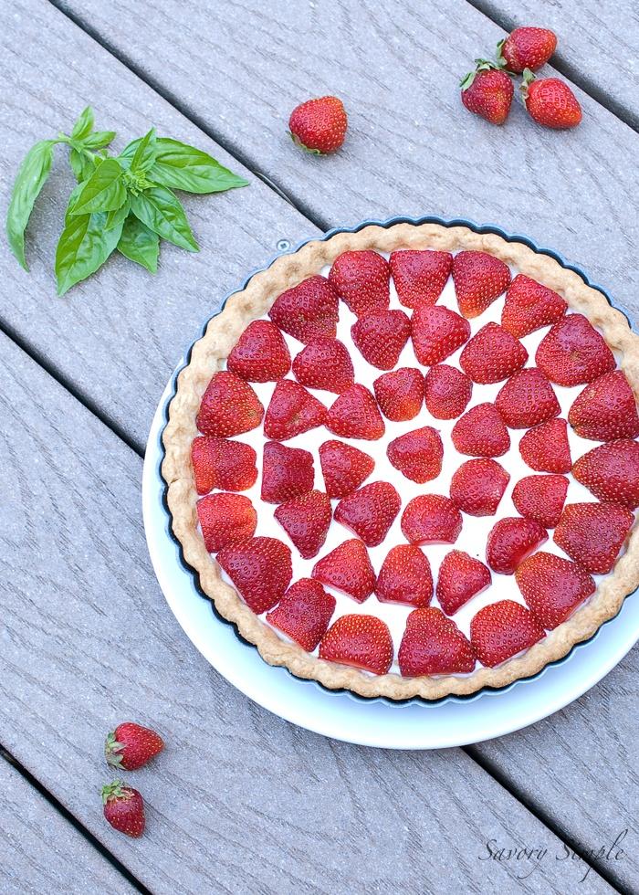 Strawberries and Cream Tart | Recipe