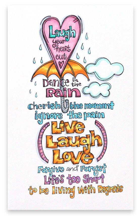 """Live Laugh Love"" by Suzy Plantamura for Creating Keepsakes magazine. #scrapbook #scrapbooking"