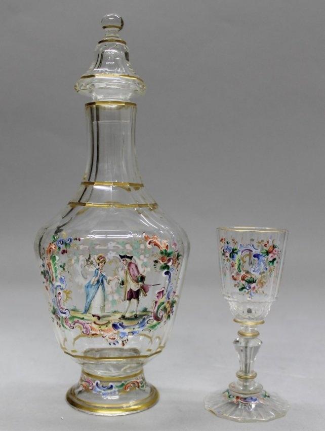 Бутылка 19-го столетия и Lobmyer стекла