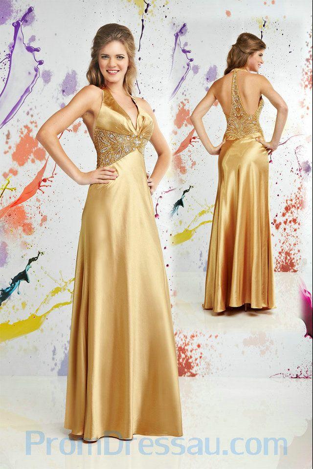 Gold Prom Dresses 2010