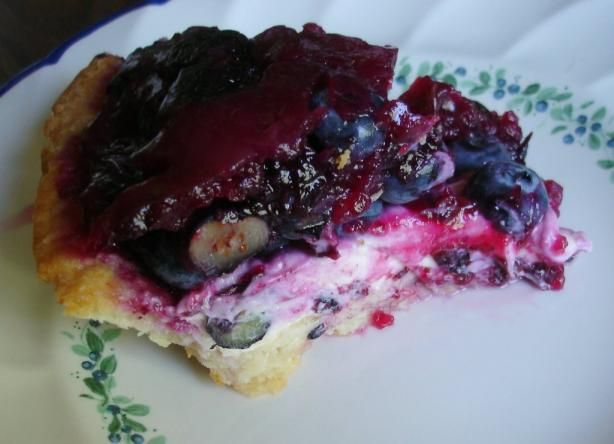 Blueberries Cream Cheese Pie. Photo by Boomette. Quick, easy ...