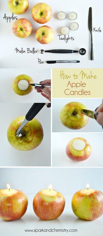DIY Tutorial: Apple Candles | Spark & Chemistry