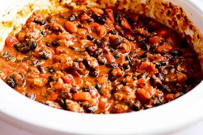 Crockpot (or stovetop) Black Bean Chili with Lime and Cilantro | Reci ...