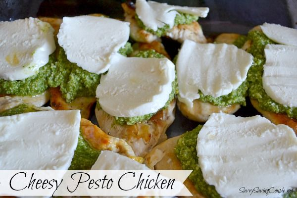 Cheesy Chicken Pesto {without pine nuts}. Learn how to make true pesto ...