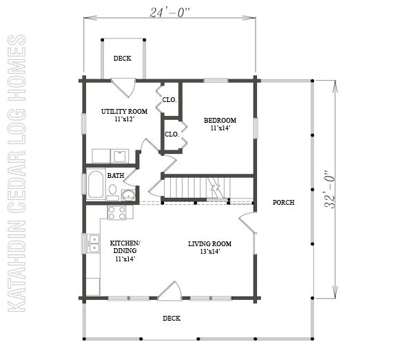 Log cabins under 1200 sq ft joy studio design gallery for Square log cabin plans