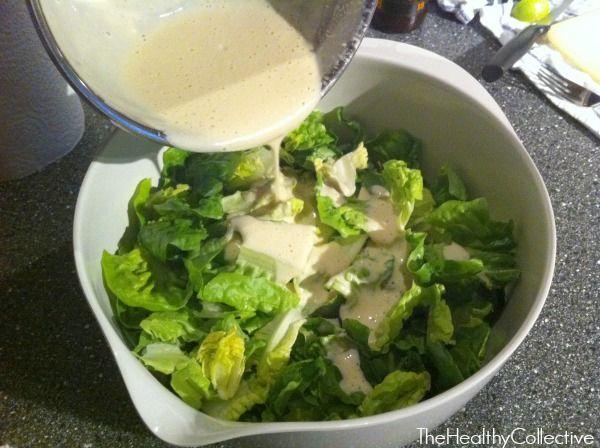 Skinny Caesar Salad Dressing   Healthy Living   Pinterest